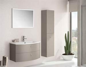 meubles lave mains robinetteries meuble sdb meuble de With meuble arrondi salle de bain