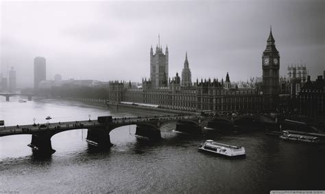London Black And White 4k Hd Desktop Wallpaper For 4k