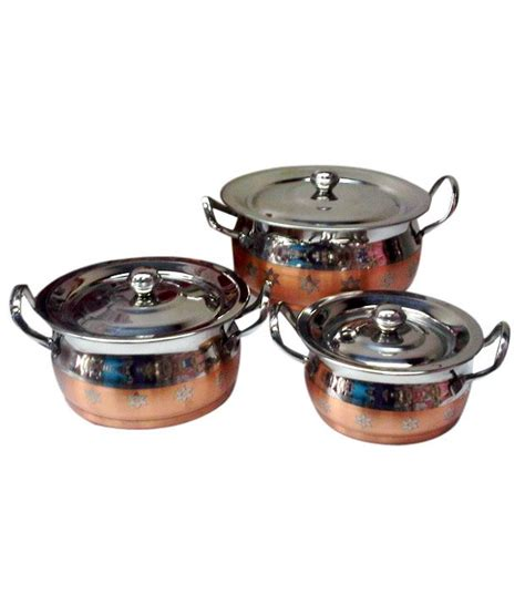 copper bottom cookware expresso copper bottom cookware set 3 pcs buy online at