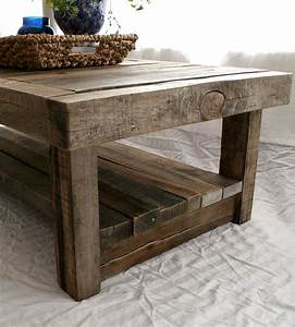 Reclaimed barnwood coffee table features reclaimed wood for Barnwood coffee table