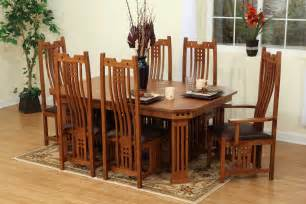 mission style dining room set 9 pieces oak mission style dining room set with hexagon dining table and chairs with high back