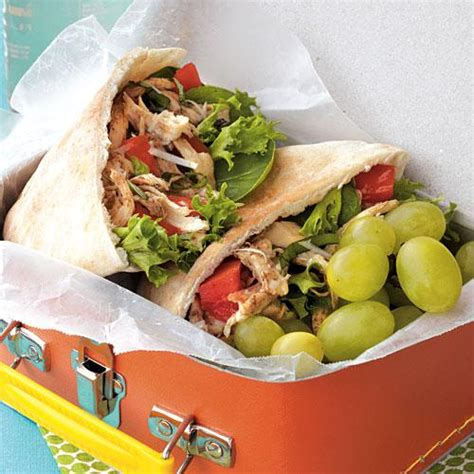 light lunch ideas nutrition made easy little italy chicken pitas healthy lunch ideas cooking light