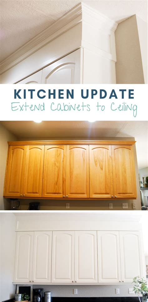 kitchen update extend cabinets  ceiling cabinets