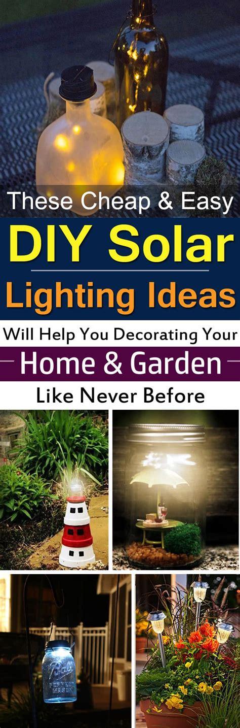 cheap easy diy solar light projects  home garden