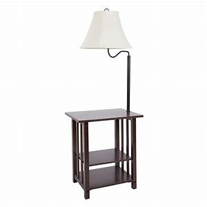 better homes and gardens 3 rack end table floor lamp cfl With better homes and gardens floor lamp with table