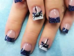 Cute spider acrylic nail art