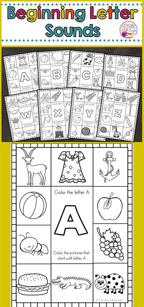 beginning sounds worksheets  images beginning