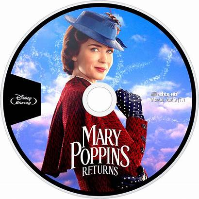 Poppins Mary Returns Dvd Disc Fanart Bluray