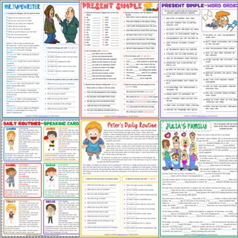 esl printable grammar worksheets  exercises