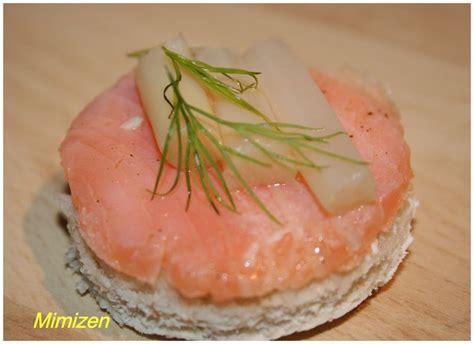 canap au saumon canapés au saumon et aux asperges mimi