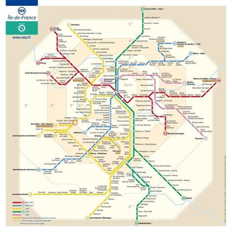 Carte Metro Rer by Plan Rer Plan M 233 Tro