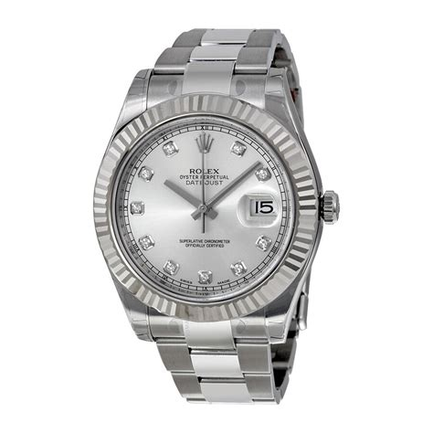 Rolex Datejust II Silver Dial Stainless Steel Oyster ...