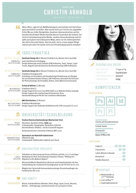 creative cv curriculum vitea lebenslauf graphic design