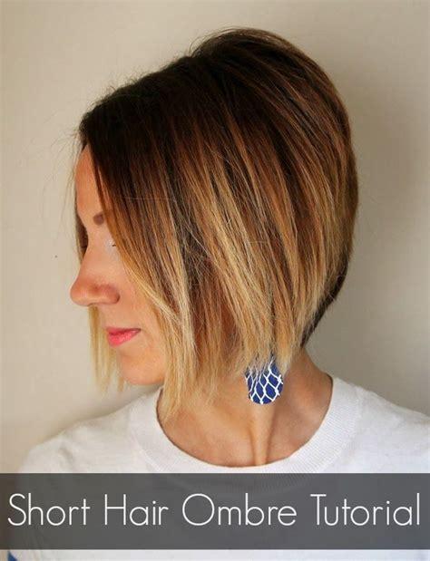 color   ombre short hair ombre tutorial