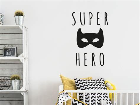muursticker superhero met batman masker teksten
