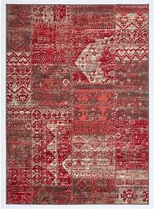 Tapis Rouge Salon : tapis salon bc patchwork rouge ~ Teatrodelosmanantiales.com Idées de Décoration