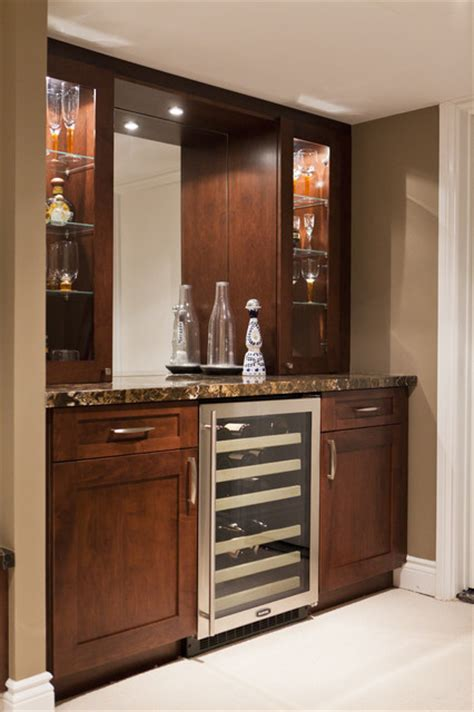 Houzz Bar by Basement Family Room And Bar Traditional Basement