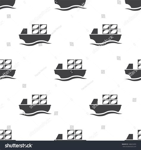 Barge Boat Icon by Barge Icon Stock Vector 348633455