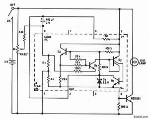 Mini Strobe Variable Flasher - Led And Light Circuit - Circuit Diagram