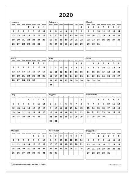 annual calendar  ss michel zbinden en
