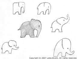 simple baby elephant outline google search elephant