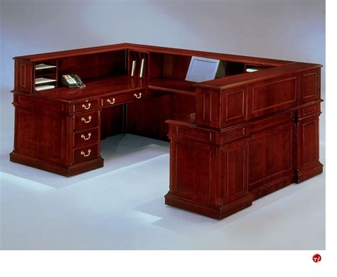Traditional Reception Desk by The Office Leader Dmi Keswick 7990 68 Traditional Veneer