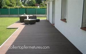 deco terrasse bois composite With idee deco terrasse bois