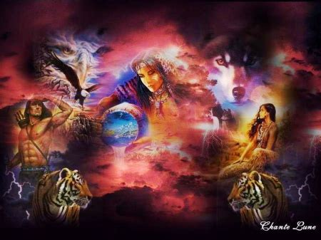 native american collages abstract background