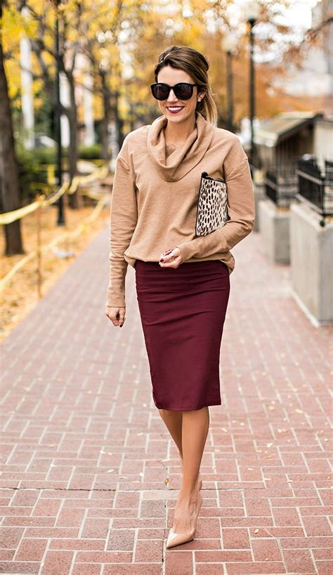 A fall outfit perfect for the office camel and maroon | Work wardrobe inspiration | Pinterest ...