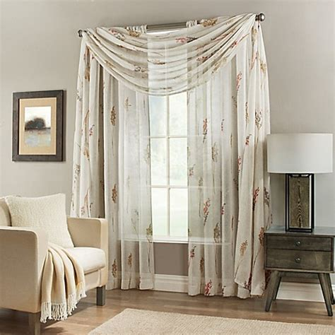 springhill sheer window curtain panel  scarf valance