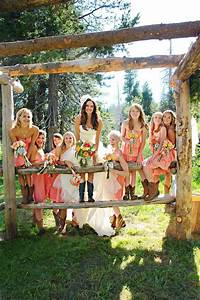 wedding dresses and cowgirl boots the snapknot blog With country wedding party dresses