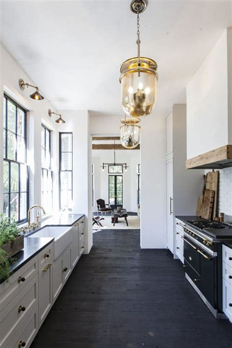 kitchens with black floors black floor paint for wooden floors morespoons 166f7aa18d65 6604