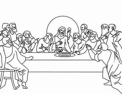 Supper Last Coloring Pages Jesus Colouring Drawing