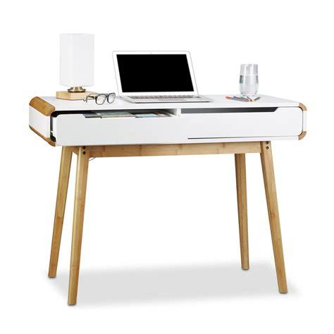 bureau en bambou bureau scandinave bambou francky shop com