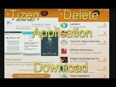 remove tizen store application