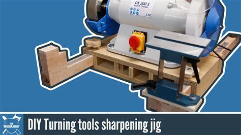wood turninggrinder sharpening jig   youtube