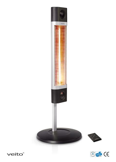 veito ch1800re free standing carbon infrared heater black