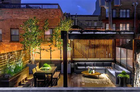 chicago wicker park garage rooftop deck contemporary