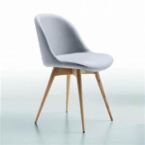 Chaise Scandinave Accoudoir : chaise scandinave simili cuir gris midj sur cdc design ~ Teatrodelosmanantiales.com Idées de Décoration