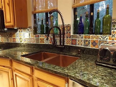mexican tile backsplash ideas for kitchen mexican kitchen decor with cabinet paint decolover net 9744