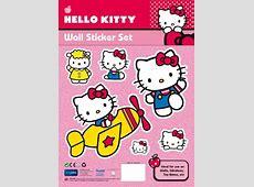 Hello Kitty Wall Stickers Aeroplane threelittlebearscouk