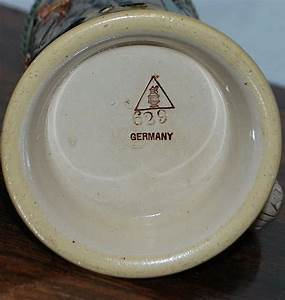 German Simon Peter Gerz 1/2L Covered Stein, c. 1900 ...