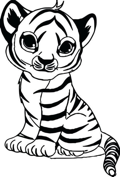 coloring pages  cute tigers tiger color sheet  baby  unicorn coloring pages cute