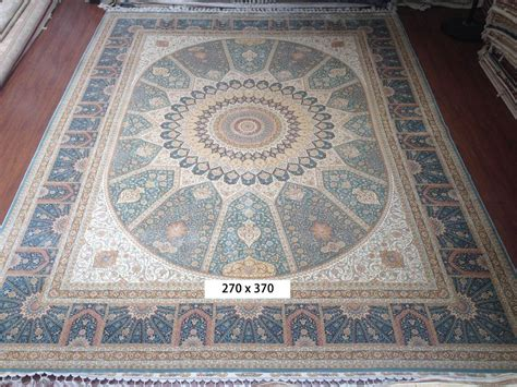 9x12 Vtg Blue 100% Silk Oriental Living Room Rugs Handmade