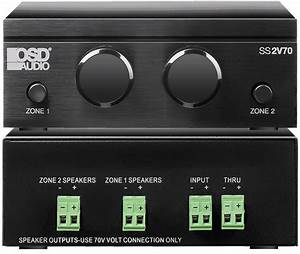 Osd Audio Ssvc2v70 Mono 70v Speaker Selector With Built In