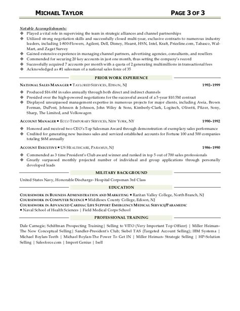 B2b Integration Resume by Michael Resume Sales Business Development Account Management