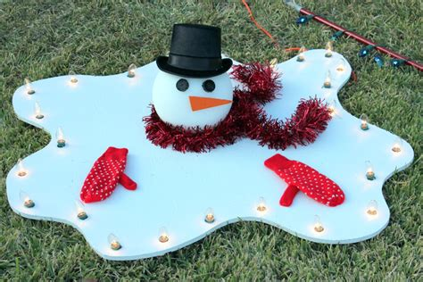 melted snowman yard decoration diy how to make a large big
