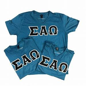 Sigma alpha omega sorority letters greek shirts sewn for Sorority sewn on letters