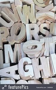 Letters Font Style Letters And Numbers Wooden Letters Stock Picture