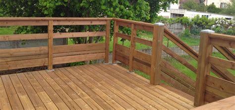terrasse exterieure en bois balustrade en bois pour terrasse exterieure